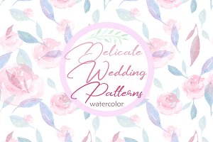 Delicate Wedding Watercolor Pattern
