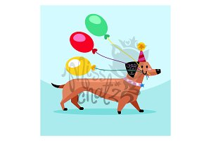 Birthday Balloon Dog