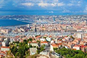 Marseille panorama, France