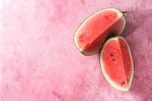 Ripe sliced watermelon