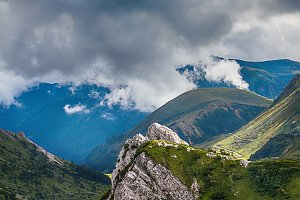 mountain landscape with cloudy