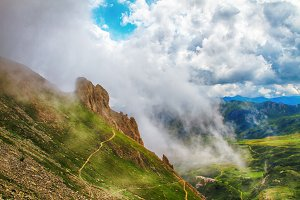 Alps montains in Bagolino