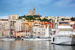 Famous european harbour in Marseille