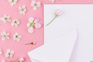 Concept of love letter with envelope