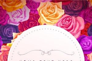 Rosebuds lovely flyer template