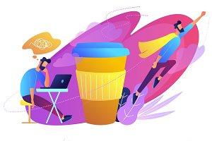 Coffee break concept vector illustration.