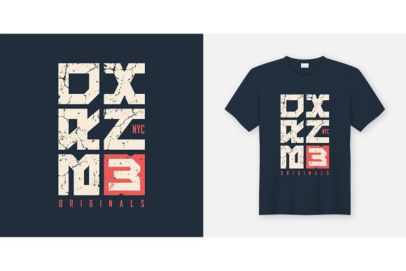 Bronx New York textured t-shirt and apparel design, typography,