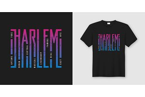 Harlem New York. T-shirt design.