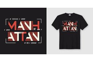 Manhattan t-shirt geometric design