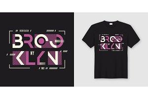 Brooklyn t-shirt geometric design