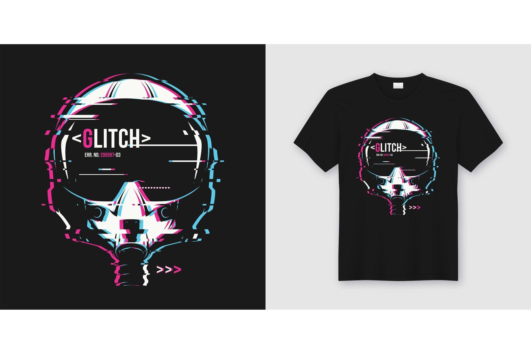 1c0598f4 Glitch. T-shirt and apparel design. ~ Illustrations ~ Creative Market