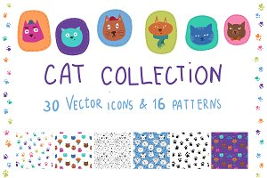 CAT collection (icons and patterns)