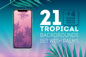 Tropical background template