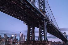 Manhattan bridge view from dumbo by  in Industrial