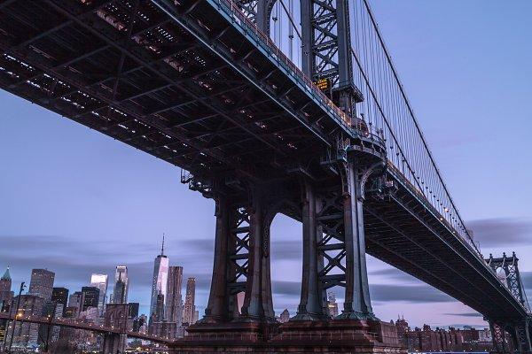 Industrial Stock Photos: MentlaStore - Manhattan bridge view from dumbo