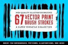 67 Illustrator Paint Stroke Brushes