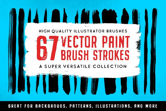67 Illustrator Paint Stroke Brushes