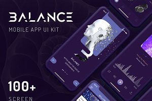 Balance Mobile App UI KIT
