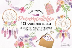 Dreamcatcher 103 Watercolor Floral