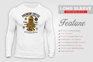Long Sleeve T-shirt Mock-up