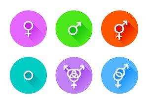 Set of sexuality symbols