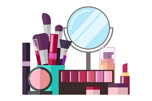 Decorative Cosmetics and Professional Makeup Tools