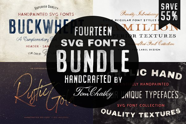 The Handcrafted SVG Font Bundle