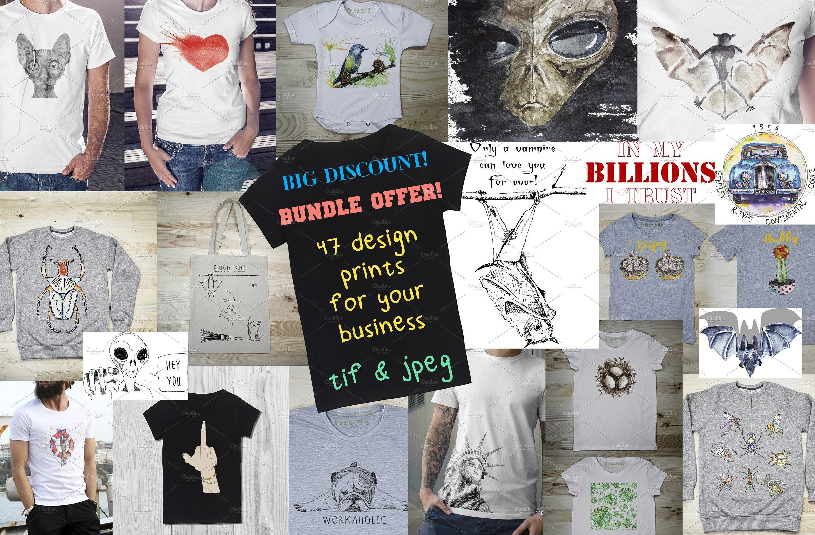 47 T Shirt Designs Bundle Offer Illustrations Creative Market