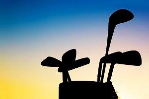 Golf equipment silhouette