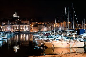 Famous european harbour, Marseille