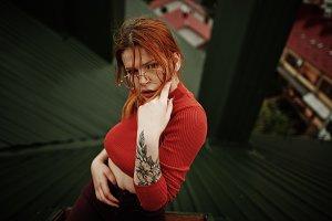 Fashion portrait of sexy girl