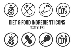 Diets and ingredient label icons