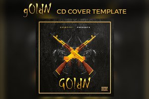 g0ldN Cd Cover Template