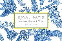 Royal Batik, Seamless Print & Motifs by  in Patterns