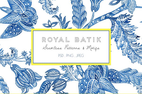 Royal Batik, Seamless Print & Motif…