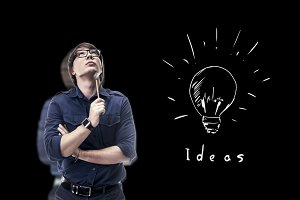 a person generates an idea