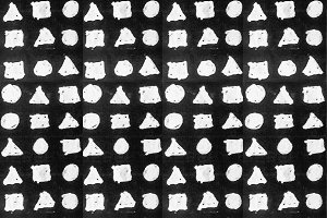 Simple Shapes Motif Drawing Seamless