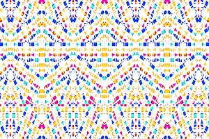 Colorful Polygons Motif Seamless Pat