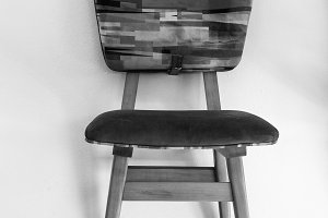 Vintage Chair in Black and White