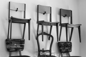 Vintage Chairs in Black and White