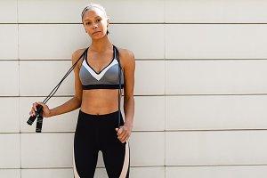 Portrait of a woman in sportswear