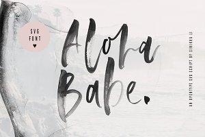 Aloha Babe SVG Font