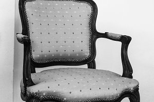 Vintage Armchair in Blackand White