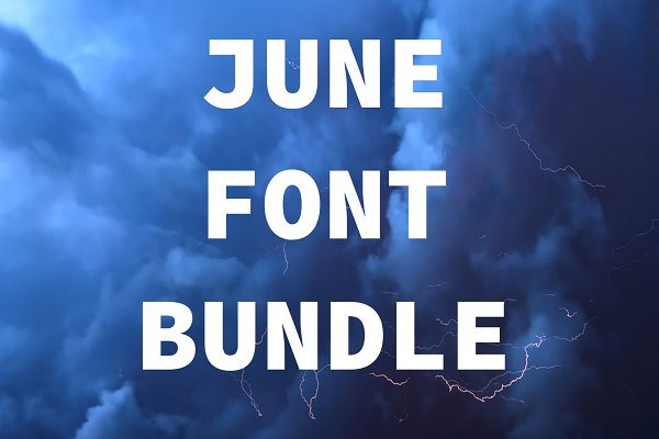 Best June Font Bundle (3 Fonts) Vector