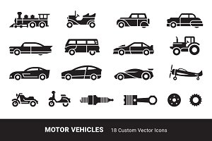 Motor Vehicle Icons
