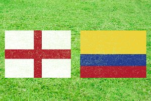 England vs Colombia Sports Backgroun