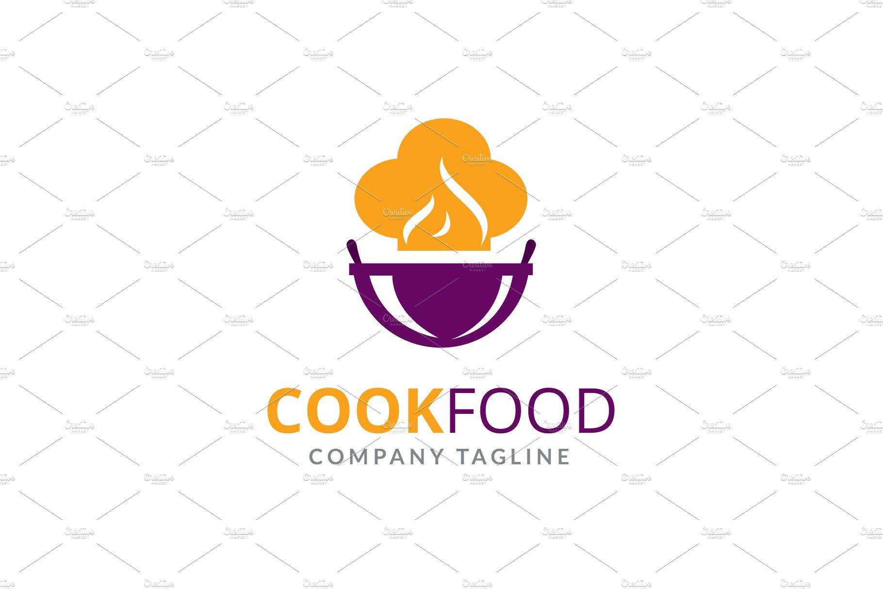 Cook Food Logo Creative Illustrator Templates Creative Market