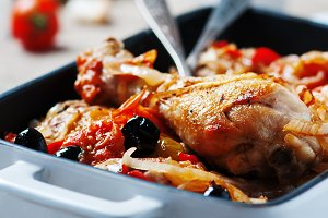 Chicken with vegetable