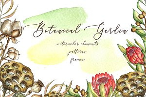 -50%Sale BotanIcal Garden watercolor