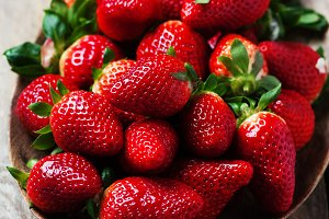 Sweet fresh strawberry
